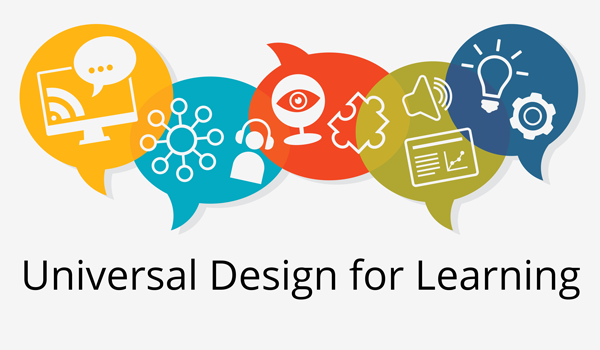 various coloured icons of universal design elements